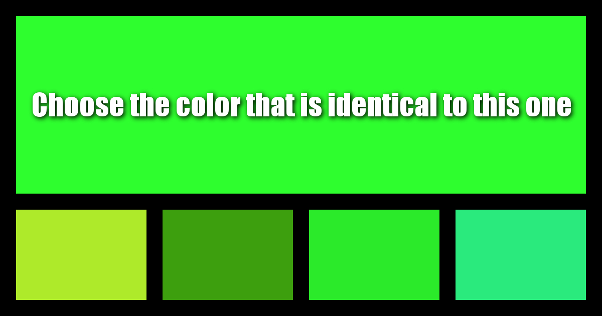 How Well Can You Differentiate Colors?
